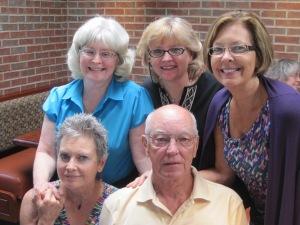 Cousins:  Front: Susan, Gary Back: Elaine, Karen, Donna